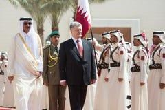De bak Hamad Al Thani van Qatar Sheikh Tamim royalty-vrije stock afbeelding