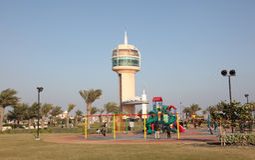 De bak Salman Park van prinsKhalifa in Bahrein Stock Afbeeldingen