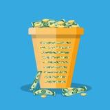 De bakhoogtepunt van het bureauafval van contant geld vector illustratie