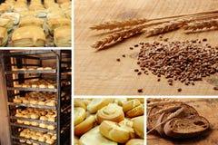De bakkerij van de collage met net Stock Foto