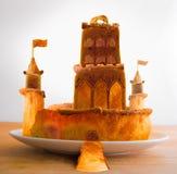 De Bakley gebakken fantasie van het kasteelvoedsel stock illustratie
