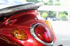 De bakre ljusen av motorcykeln Royaltyfri Foto