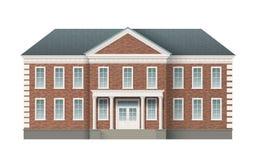 De baksteen administratieve bouw royalty-vrije illustratie