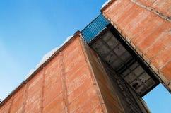 De baksteen industriële bouw Royalty-vrije Stock Afbeeldingen