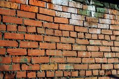De baksteen rode muur van Grunge Royalty-vrije Stock Foto's