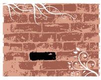De baksteen van de muur, grunge achtergrond Stock Afbeelding