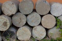 De baksteen van het cilindercement Stock Fotografie
