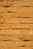 De baksteenachtergrond van het zandsteen Stock Fotografie