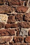 De baksteenconstructie van het kasteel Stock Afbeelding