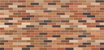 De bakstenen muur kleurde naadloze textuur Metselwerkachtergrond royalty-vrije illustratie