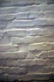 De Bakstenen muur schilderde Wit Stock Fotografie