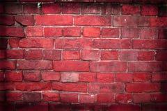 De bakstenen muur van Grunge met grens Royalty-vrije Stock Foto's
