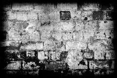 De bakstenen muur van Grunge met grens Stock Foto's
