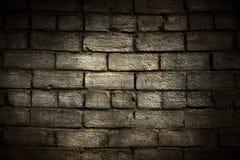 De bakstenen muur van Grunge met grens Royalty-vrije Stock Foto