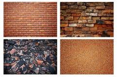 De bakstenen muurachtergrond van de steen Stock Fotografie