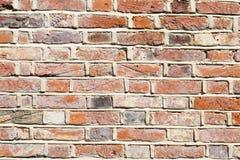 De bakstenen muurachtergrond van het kalkmortier Royalty-vrije Stock Afbeeldingen