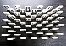 De bakstenen van de domino Stock Foto