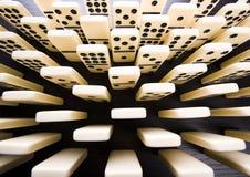 De bakstenen van de domino Royalty-vrije Stock Afbeeldingen
