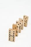 De Bakstenen van de domino Royalty-vrije Stock Foto's