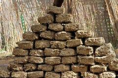 De bakstenen van de modder Stock Foto's
