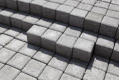 De Bakstenen van het cement Stock Foto's