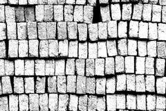 De bakstenen worden gestapeld samen in één mooi pakket Abstract concept en art. Stock Foto