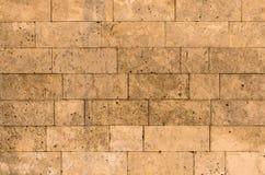 De bakstenenblokken van de muurtextuur van shell steen overzeese steen Royalty-vrije Stock Afbeelding