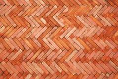 De bakstenenvloer van de tegel Stock Afbeelding