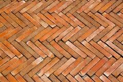 De bakstenenvloer van de tegel Stock Fotografie