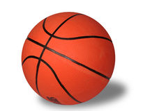 De bal aan het basketbal royalty-vrije stock afbeelding