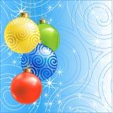 De bal/de achtergrond van Kerstmis vector illustratie