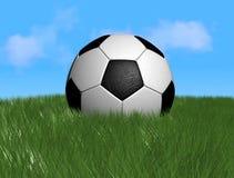 De bal of de voetbal van het voetbal Stock Foto