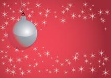 De bal en de sneeuwvlokken van Kerstmis vector illustratie