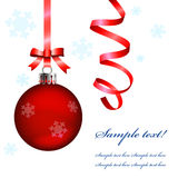 De Bal en de sneeuwvlokken van Kerstmis Royalty-vrije Stock Afbeeldingen