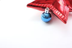 De bal en de ster van Kerstmis Stock Fotografie