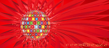 De bal en de stralen van de kleur vector illustratie
