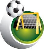De bal en het doel van het voetbal Vector Illustratie
