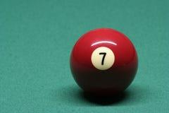 De bal nummer 07 van de pool Royalty-vrije Stock Foto's