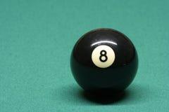 De bal nummer 08 van de pool Royalty-vrije Stock Afbeeldingen