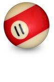 De bal nummer 11 van de pool Stock Afbeelding