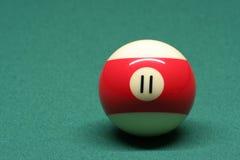 De bal nummer 11 van de pool Royalty-vrije Stock Afbeeldingen
