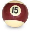 De bal nummer 15 van de pool Stock Foto's