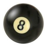 De bal nummer acht van de pool Royalty-vrije Stock Foto