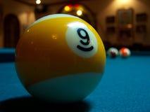 De Bal nummer negen van het biljart Stock Foto's