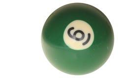 De bal nummer zes van de pool Royalty-vrije Stock Afbeelding