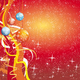 De bal-sneeuwvlok-ster-golven van Kerstmis stock illustratie