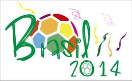De bal van Brazilië 2014 colorfull Royalty-vrije Stock Foto's