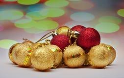 De bal van Christmass van de decoratie Stock Foto