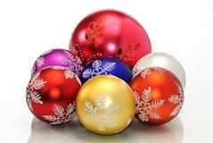 De bal van de de decoratiekleur van Cchristmas Royalty-vrije Stock Afbeeldingen