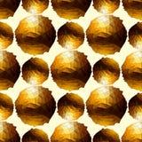 De Bal van de disco Gouden naadloze achtergrond Royalty-vrije Stock Foto's